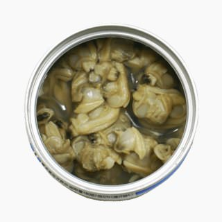 Short-necked clam, Canned product (in brine)