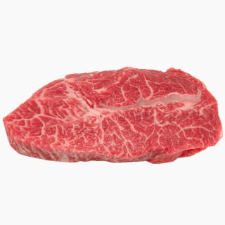 Cattle, Beef, Japanese beef cattle (chuck, without subcutaneous fat, raw)