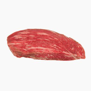 Cattle, Beef, Japanese beef cattle (rump, without subcutaneous fat,raw)