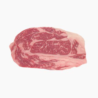 Cattle, Imported beef (rib loin, lean and fat, raw)