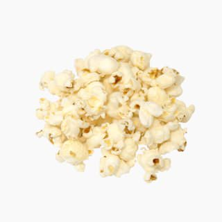 Corn (popcorn, oil-popped and salted)